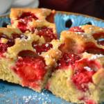 Ciasto z truskawkami – piaskowe