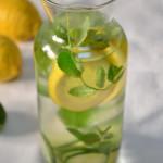 Woda z ogórkiem, cytryną i miętą