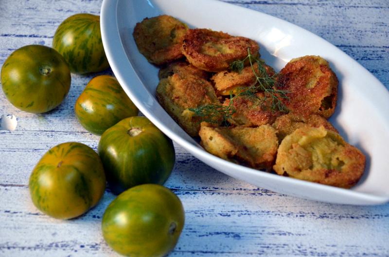 smażone zielone pomidory