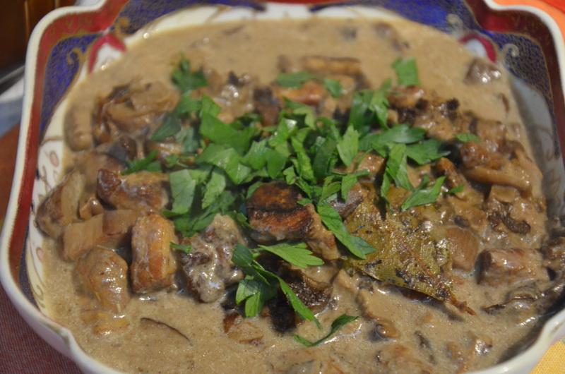 potrawka z grzybów