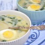 Zupa ze świeżego szpinaku, szpinakowa