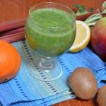 Szpinakowy zielony koktajl