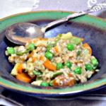 Risotto z młodymi warzywami
