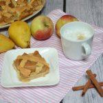 Kruche ciasto z kratką z jabłkami i gruszką