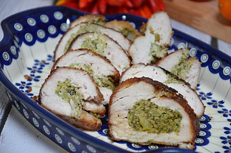Faszerowany brokułami i fetą filet z indyka