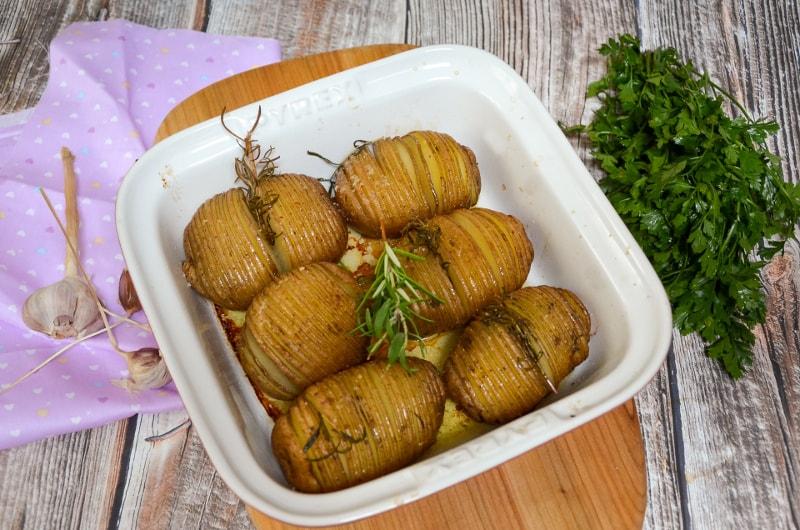 Ziemniaki hasselback, ziemniaki harmonijki, ziemniaki akordeony