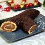 Bûche de Noël –  rolada biszkoptowa z kremem z mascarpone