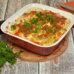 Zapiekanka serowa ze szparagami i brokułami